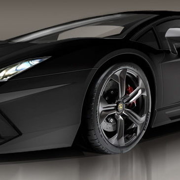 Lamborghini Aventador Negro Mate