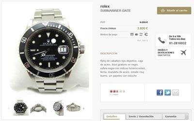 Vender productos de lujo por Internet