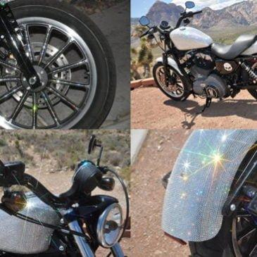 Harley Davidson con  cristales Swarovski