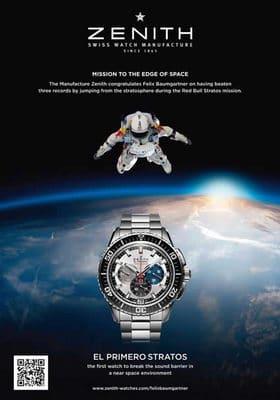 Reloj Zenith de Stratos bate records