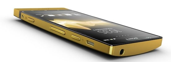 Sony Xperia P en Oro de 24 Kilates