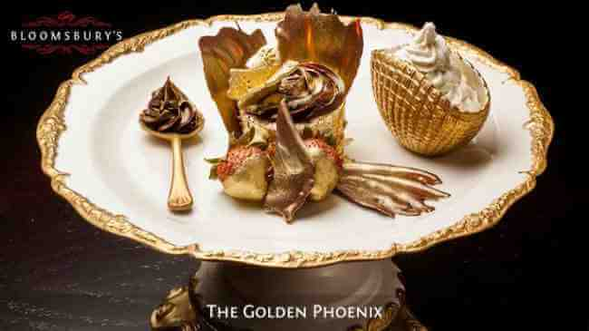 El Golden Phoenix Cupcake un postre de Lujo
