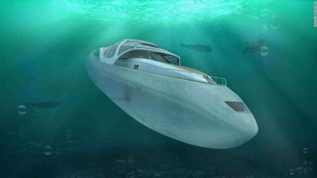 El yate de lujo que se convierte en submarino